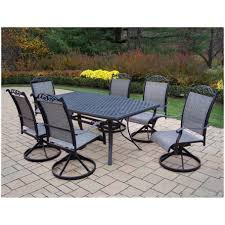 7 Pc Patio Dining Set Furniture Outdoor Dining Sets Under 400 Oakland Living Cascade