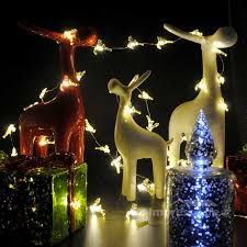 Outdoor Timer For Lights by Xmas Reindeer String Lights 10 Ft Copper Wire 50 Leds Timer For