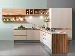 Kitchen Cabinets OPPEIN High Glossy SeriesWhite And Wood Grain - Different kinds of kitchen cabinets