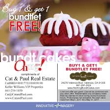 nothing bundt cake coupon buy one get one free may 2017