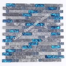 Blue Glass Tile Bathroom - sea blue glass tile kitchen backsplash grey marble tile stone