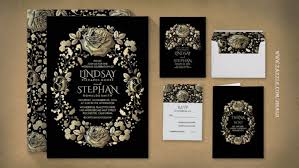 gold wedding invitations vintage wedding wedding invitations by jinaiji