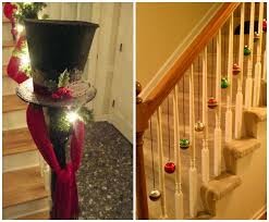 Banister Decorations For Christmas Fun Ways To Decorate Stairs For Christmas Crafty Morning
