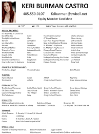 Actor Resume Examples by Inspiring Audition Resume 58 For Your Resume Sample With Audition