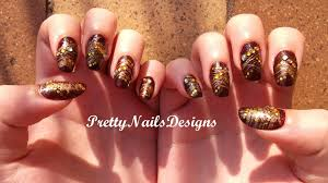 burgundy and golden nail art youtube