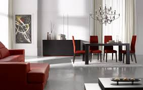 combined living and dining room the best modular kitchen red white combination utensils for black