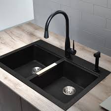 Granite Double Bowl Kitchen Sink  Picgitcom - Kitchen double bowl sinks