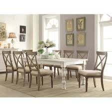 dining room sets 9 piece east west furniture parfait 9 piece inch 54 square dining table