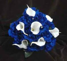 wedding flowers ebay bridesmaids wedding bouquet lillies roses purple royal blue