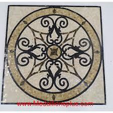 kristine ii 24 polished square mosaic medallion medallionsplus