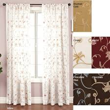 Drapes 120 Inches Long Softline Cairo Rod Pocket 120 Inch Curtain Panel Free Shipping