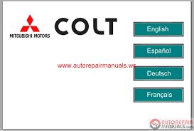 mitsubishi colt 2005 service manual auto repair manual forum