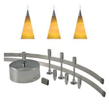low voltage pendant lights jesco lighting 96 in low voltage 150 watt monorail kit with 3 amber
