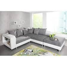canape gris angle canapé d angle design blanc tissu gris avec plateau en verre liberty