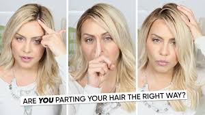 find right hairstyle for face shape of yours are you parting your hair the right way youtube