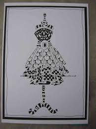 sweet poppy stencil dress zentangle design www aldridgecrafts