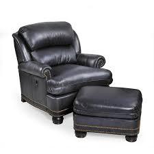 tilt back chair with ottoman trafalgar tiltback chair ottoman leather furniture seating