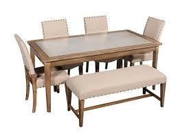 Raymour And Flanigan Dining Chairs Gray Street 6 Pc Dining Set W Bench Dining Sets Raymour And