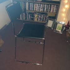 office desk chair or lounge chair silver metal frame with black