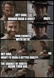 Walking Dead Meme Carl - the walking dead rick and carl ooo burrrrrrrrrrrrrrrrrn lmao the