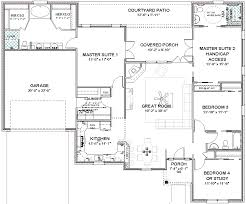 Two Master Bedroom Floor Plans Complete House Plans 2306 Sq Ft 2 Masters Ada Bath Masters