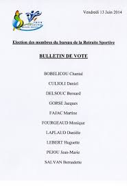 ection bureau association manifestations retraite sportive panazol