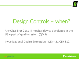 fda design controls what medical device makers need to know