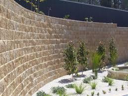 tasman retaining wall limestone colour garden ideas pinterest