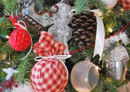 diy pottery barn inspired plaid ornaments shelterness