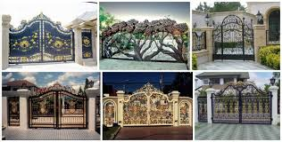 12 modern gate design for elegant addition in your home ideas to