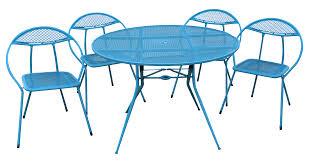 Turquoise Patio Chairs Salterini Mid Century Turquoise Patio Set Chairish