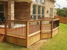 Backyard Deck Prices Dining Room Top Attractive Outside Deck Railings For Property