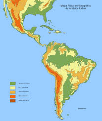 Map Central And South America by Physical And Hydrographic Map Of Latin America Full Size