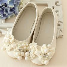 wedding shoes luxury pearls flower wedding shoes 2017 new style luxury kids