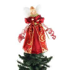 angel satin christmas tree topper red 9 inch u2013 www partymill com