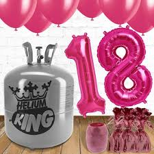 balloons for 18th birthday 18th birthday pink balloons and helium package partyrama co uk