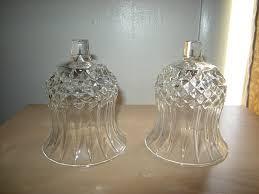 2 elegant crystal glass votive cups peg lites candle holders home