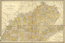 map ky and tn and tennessee state 1881 historic map killebrew rand mcnally reprint