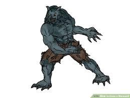 4 ways to draw a werewolf wikihow