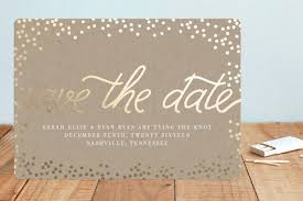 starlight foil pressed save the date cards by saltwater designs