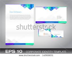 letterhead envelopes and business cards free vector download