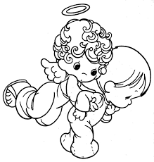 angel color pages printable 17 precious moments angel coloring pages 7329 precious
