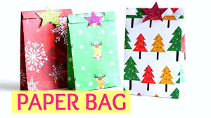 diy crafts paper gift bag easy for christmas craft monkey