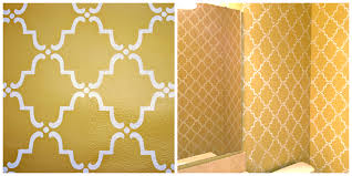 Moorish Design by Stenciled Powder Room Chell Design Studio
