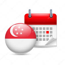 Singapore Flag Button Icon Of National Day In Singapore U2014 Stock Vector Dvargg 103286458