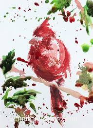 christmas cards in watercolor 12 days of christmas cards cardinal
