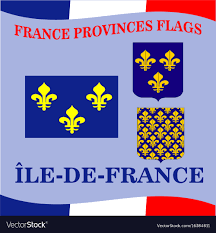 province france flag of french province ile de france royalty free vector
