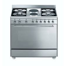 smeg 90cm 4 burner gas elec cooker dionwired