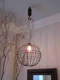 Diy Hanging Light Fixtures Diy Light Fixture From Hanging Basket Planters Electric