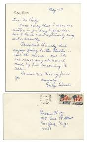 lot detail four letters by jfk u0027s secretary evelyn lincoln